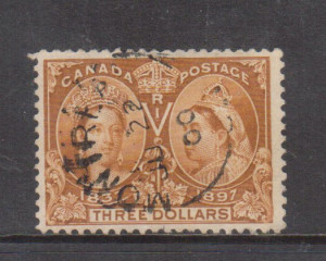 Canada #63 VF Used With Ideal June 22 1900 Black CDS Cancel **With Cert.**