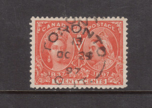 Canada #59 XF Used Gem With Ideal Oct 29 1897 Cancel **With Cert.**