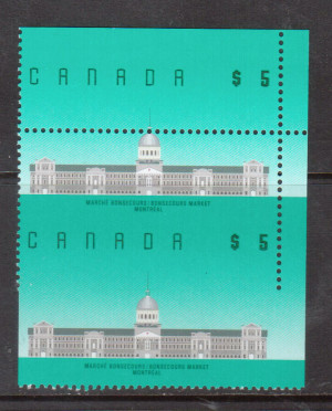 Canada #1183 XF/NH Unique Imperf Variety Pair **With Certificate**