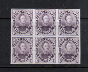 Canada #2TCi XF Proof Block Of Six On India Paper